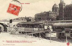 Descente de bateaux au Châtelet.