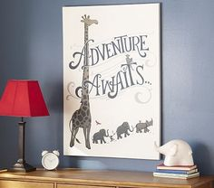 This is a LOT bigger than I thought it would be, which is awesome!    Adventure Awaits Canvas Art on potterybarnkids.com