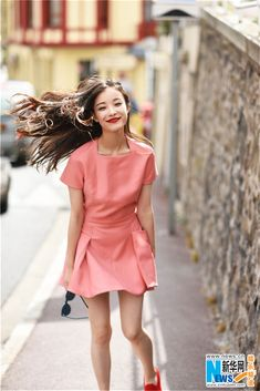 Chinese actress Ni Ni in France  http://www.chinaentertainmentnews.com/2015/07/new-fashion-shots-of-ni-ni-in-france.html