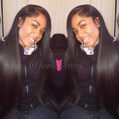 Partial Side Part Installation ✨ silk pressed Hair from Sew In Hairstyles, Black Girls Hairstyles, Pretty Hairstyles, Straight Hairstyles, Braided Hairstyles, Birthday Hairstyles, Hairstyle Ideas, Silk Press Hair, Curly Hair Styles