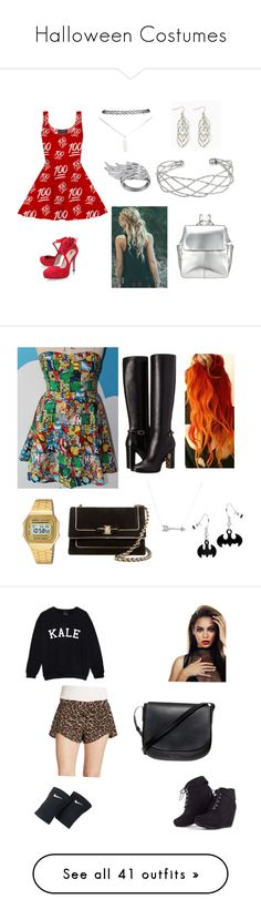 """Halloween Costumes"" by emmaxmyself ❤ liked on Polyvore featuring Wet Seal, AS29, Wallis, Kin by John Lewis, Burberry, Casio, Salvatore Ferragamo, Adina Reyter, Free People and NIKE"