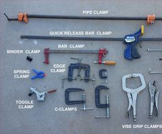I while ago I was reading an article in a woodworking magazine that got me started thinking about clamps. What is a clamp, really? If you're talking about sheets of paper, a clamp might be a staple, or a paper clip or a binder clip, or even a rubber band. For wood, there are spring clamps, C-clamps, bar clamps, pipe clamps, strap clamps, wooden handscrew clamps,hold-down clamps, toggle clamps, corner clamps, and probably others I've never heard of. You can even use clothes pins for small…