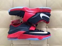 """THE SNEAKER ADDICT: Nike KD 7 Blue/Red """"Bred"""" PE Sneaker (Images)"""