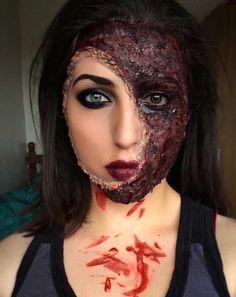 Burned Face Halloween Makeup
