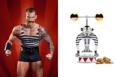 Circus Collection Marcel Wanders, The Strongman, nutcracker in 18/10 stainless steel. Limited edition