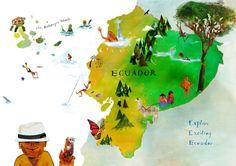 Ecuador Illustrated Map