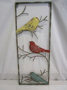 shopgoodwill.com: 023 Metal Bird Wall Decor