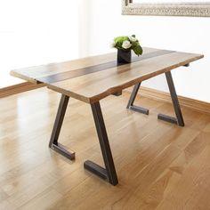Z Kollektion Oak And Iron Dining Table
