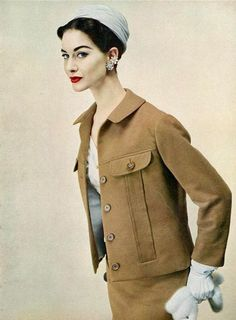 Nancy Berg, photo by Erwin Blumenfeld, Vogue 1954