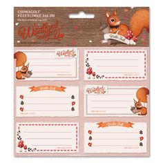 Woodland Magic csomagolt füzetcímke (3x6 db) Red Squirrel, Woodland, Teddy Bear, Toys, Children, Fall, Animals, Magic, Google