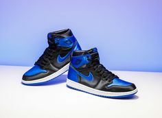 """If you thought Air Jordan 1 """"Royal"""" was unusually difficult to pick up on  Saturday, meet its counterpart. Air Jordan 1 Satin """"Royal"""" dropped at only  two ..."""