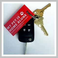 Our Emergency soft flexible vinyl Pet Keychain is the perfect addition to Our Pet Wallet Cards and will help emergency responders find your Pet Card in your wallet so they can tell your emergency cont