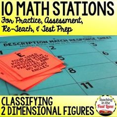 Classifying 2D Figures Stations-This set of 10 math stations all focus on the 5th grade standards for classifying two-dimensional figures. With 10 different centers to practice with your students will be experts in no time flat while playing these partner math games. 4th Grade Math Test, Sets And Subsets, Texas Teacher, Teaching Strategies, Teaching Resources, Math Lesson Plans, Math Stations, Guided Math, Addition And Subtraction