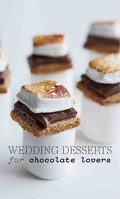 Wedding Dessert Ideas for Chocolate Lovers | Martha Stewart Weddings - Chocolate might as well be considered a love language. Studies show that the taste of chocolate releases the same hormone (oxytocin) that's released when you feel a bond with someone. No wonder we give our S.O.s heart-shaped boxes of the stuff.  As the stores shelves are covered with the candy for the Valentine's Day, there's no better time to reflect on the possibilities for incorporating chocolate into your wedding.