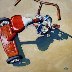 "Daily Paintworks - ""Reserved Parking"" - Original Fine Art for Sale - © Nora Bergman Ap Studio Art, Bicycle Art, Ap Art, Cycling Art, Art Sketchbook, Art Studios, Art Education, Art For Sale, Art Lessons"
