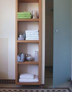 badkamerkast Towel Shelf, Bunk Beds, Interior Inspiration, New Homes, Shelves, Toilet, Bathroom, Wood, Furniture
