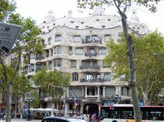 Casa Mila, Gaudi-designed apartment house, Barcelona