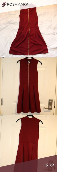 2c9f70c675a NWT Love J Maroon Zipper Skater Dress NWT Love J Maroon Zipper Skater Dress  Size Medium