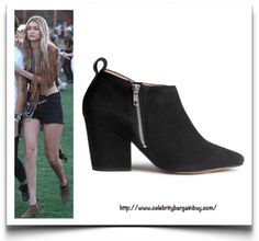 Ankle Boots - Celebrity Style - Celebrity Bargain Buy. Gigi Hadid is wearing the H&M Suede Ankle Boots now on SALE at $40 USD down from $69.95 USD.