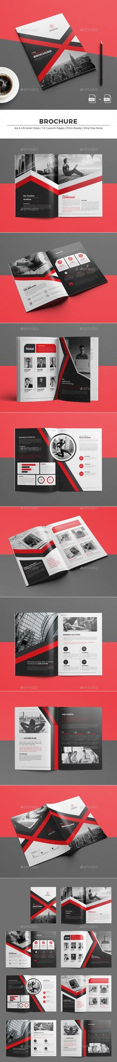 Brochure Template InDesign INDD - 16 Pages A4 & US letter Size