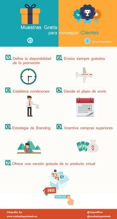 Muestras gratis para conseguir clientes #infografia #infographic #marketing
