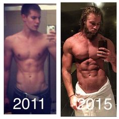 114 best men's skinny to muscular transformation images in
