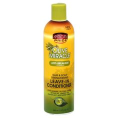 African Pride Olive Miracle Leave In Conditioner 12 Ounce Hair & Scalp Strengthening