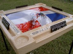 Domino Tables by Art with Dominican Republic Bandera & Light Wood Frame | Home & Garden, Furniture, Tables | eBay!