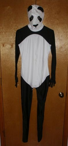 Panda Halloween Costume Bodysuit FULL COVERAGE Various Sizes - FAST SHIPPING! #Bodysuit