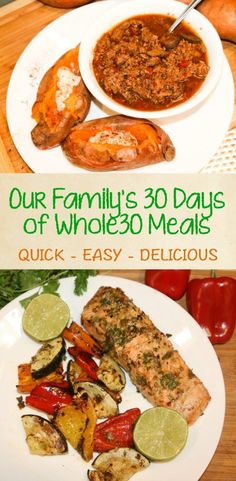 30 Days of Whole30 Recipes -Our family is on a quest for a simpler, healthier…