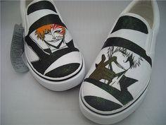 anime shoes Custom bleach anime shoes bleach Hand Painted Shoes Custom Shoes Custom Sneakers on Etsy, $62.99