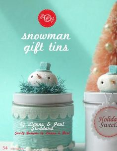 snowman gift tins