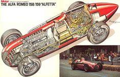 Alfa Romeo, Number 3, Technical Drawing, Automobile, Racing, Primers, Formula 1, F1, Classic