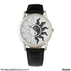 Yin Yang symbol sun Wristwatch