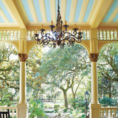 We polled tastemakers across the South, and here's where they'll be porching this season. Old Edwards Inn, Haint Blue, Cumberland Island, Blue Ceilings, Magnolia Trees, Time Stood Still, Beautiful Curves, Old Houses, Porches