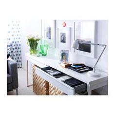 BESTÅ BURS Skrivbord, högglans vit - högglans vit - IKEA