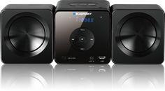Mikrowieża Blaupunkt MS5BK o mocy maksymalnej 30W (2x15W) obsługuje formaty CD/-R/-RW/MP3, posiada odtwarzacz CD z odczytem plików MP3 oraz wejście USB do odtwarzania muzyki. To tylko kilka z cech jakie posiada ten sprzęt RTV. Cd R, Multimedia, Washing Machine, Usb, Home Appliances, House Appliances, Appliances