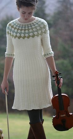 Cecilia's Song Entrelac Dress in Crystal Palace Mini Mochi!  Gorgeous!