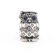 Lovely Owl Bead With Blue CZ 925 Silver Charm Bead Fits Original Pandora Charms Bracelets DIY Brand Fashion Women Jewelry LSH124 //Price: $US $6.30 & FREE Shipping //     #hashtag3