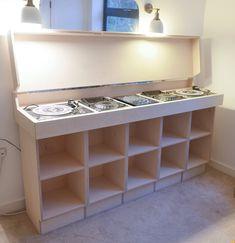 Last Night a Carpenter Saved My Life — The Modern Carpenter audio room {ResimSayisi} Lp Regal, Ikea Expedit Shelf, Turntable Setup, Dj Stand, Dj Table, Dj Decks, Dj Setup, Vinyl Record Storage, Lp Storage
