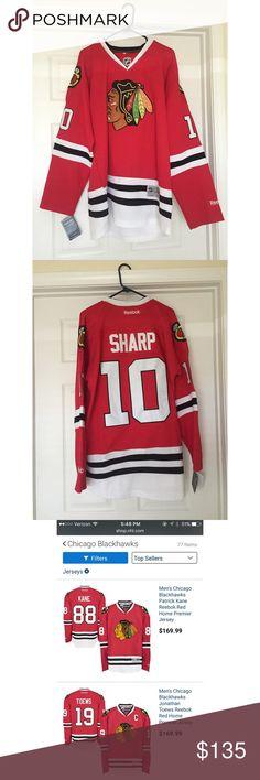 FLASH SALE PRICE⬇️ 12hrs Only - Chicago Blackhawks NWT Chicago Blackhawks Patrick Sharp Jersey AUTHENTIC - Never Worn - Brand New Reebok Shirts