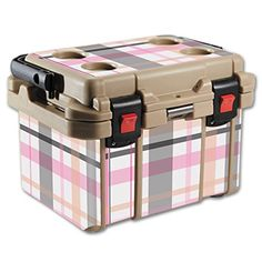 MightySkins Protective Vinyl Skin Decal for Pelican 20 qt Cooler wrap cover sticker skins Plaid *** Details can be found by clicking on the image.