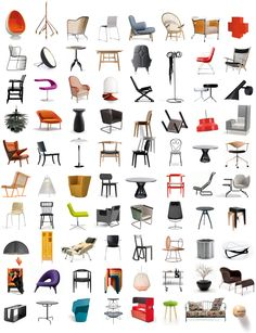 Furniture Design History top view chair vectors - google search | design inspirations
