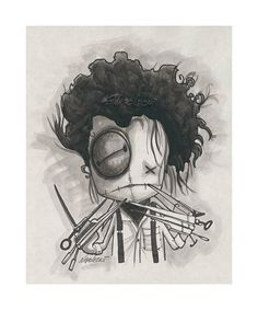 Fabio Napoleoni @ Art Center Gallery One of my all time favorite artist. I want every piece of his work. They are all awesome. Tim Burton, Edward Scissorhands Tattoo, Rockabilly Artwork, Paisley, Creepy Art, Gothic Art, Heart Art, Doodle Art, Cute Art