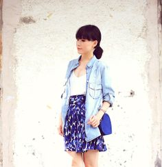 Chambray Dress + skirt and white top