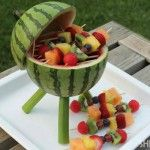 A CREATIVE WATERMELON CENTERPIECE