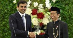 Presiden Joko Widodo saat menerima kunjungan kenegaraan dari Emir Qatar Syekh Tamim bin Hamad Al Thani di Istana Kepresidenan Bogor,Rabu (18/10). BOGOR , 18 Oct 2017-Kunjungan kali ini sangat pent…