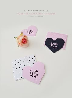 Get ready for this Valentine's day with this free printable card & envelope!  somethingpeach.com