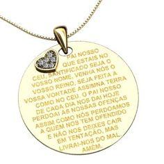 Medalha Pai Nosso Ouro Amarelo Por: R$ 6.833,00ou 12x de R$ 569,41