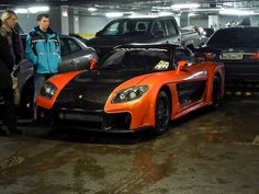 rx-7 wide-body kit images   Mazda RX-7 w/ Veilside Fortune widebody kit